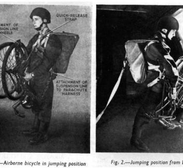 Los soldados británicos que se tiraron con bicicletas en la Segunda Guerra Mundial