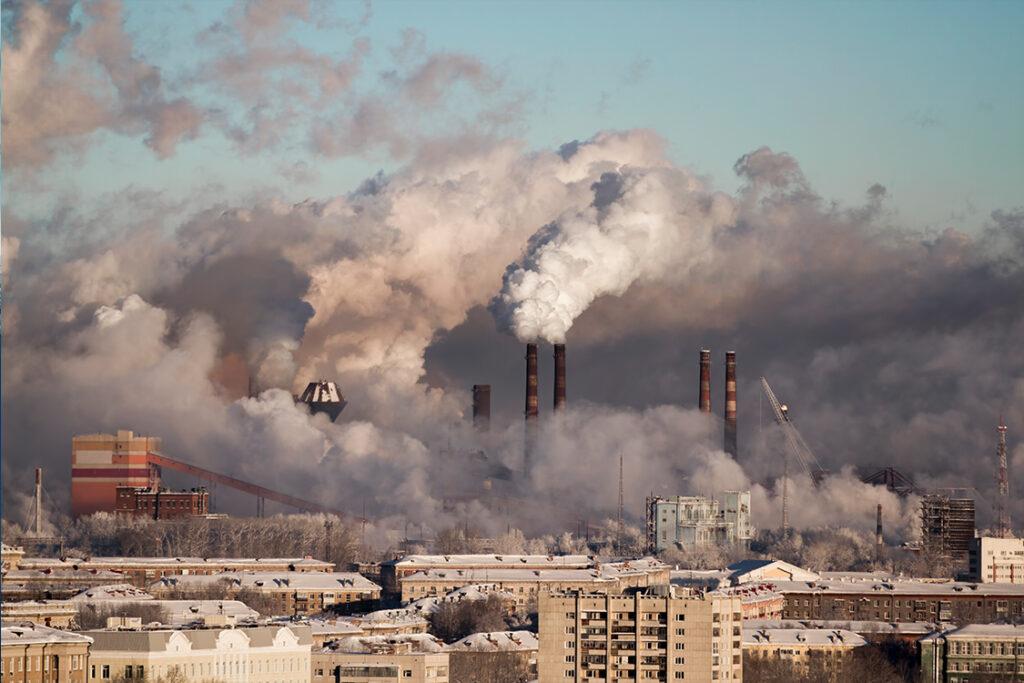 Emisiones industriales que empeoran la calidad del aire